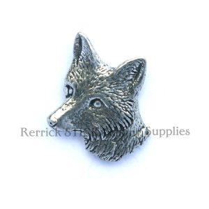 Pin Badge Pewter Fox Head Large