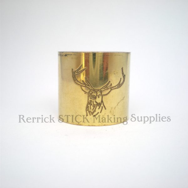Plain Brass Collar Stag Engraved
