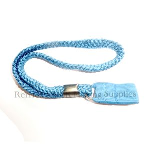 Blue Braided Wrist Strap